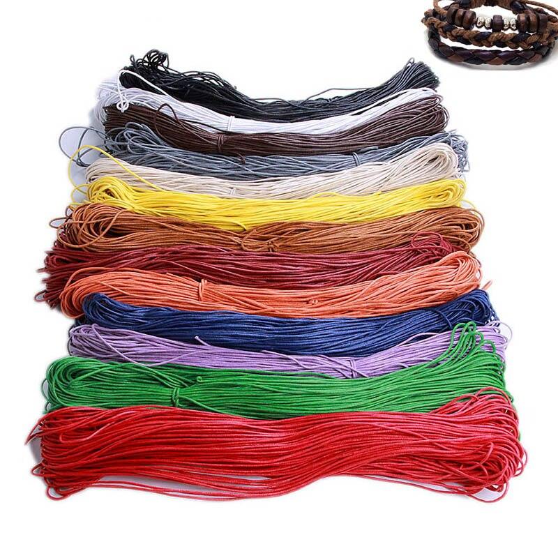 10 м 2 мм Бисероплетение красная черная Вощеная хлопковая оплетка веревка для DIY ожерелье ювелирный браслет сделай сам изготовление 13 цветов корде поставщик