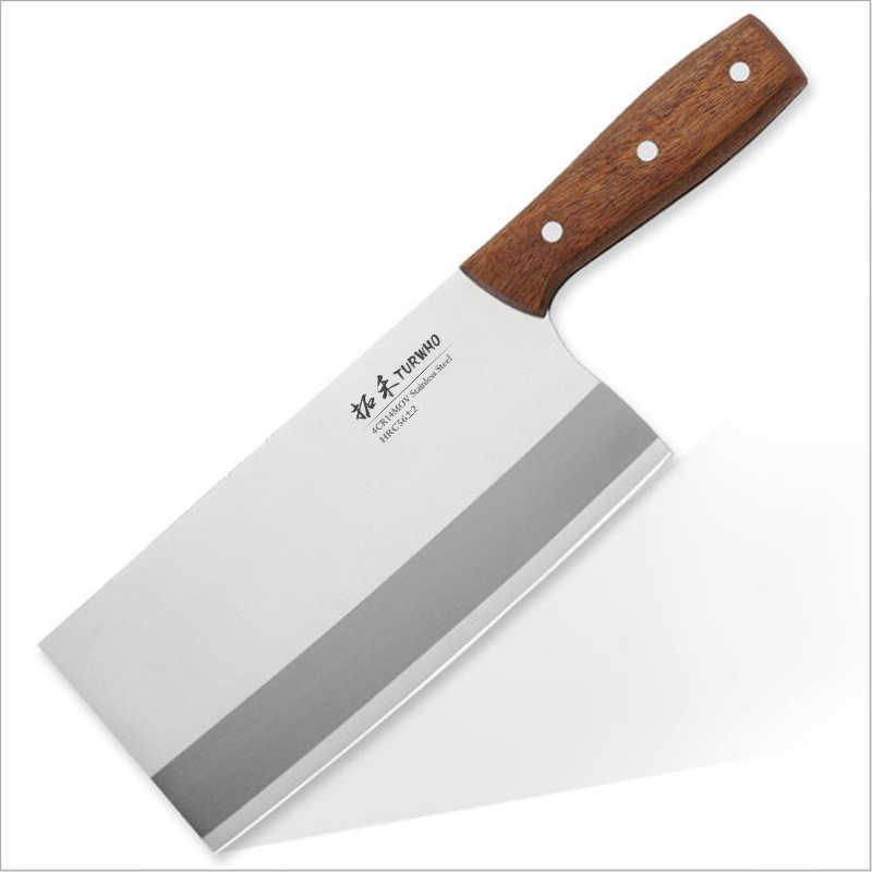 TURWHO 8 ''באיכות גבוהה קליבר הקצב סכין נירוסטה מטבח סכין חד מאוד חיתוך סכין מטבח בישול שף סכין