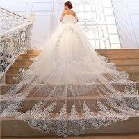 2017 princesa de lujo superior del tubo largo que arrastra el vestido de boda de cristal brillante diamante de la novia vestido de noiva princesa