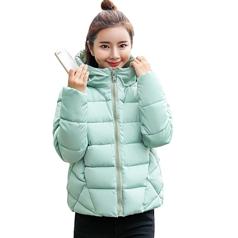 Large Size 4XL Winter Jacket Women 2019 New Fashion Small Cotton Warm Coat Short Slim   Parkas   Ladies Hooded Warm Outerwear CM882