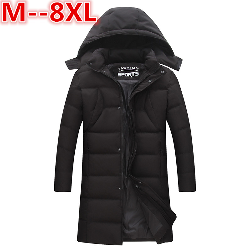 plus size 8XL 6XL 5XL winter Jacket for men hooded coats casual mens thick coat male loose casual cotton padded down outerwear 2016 new long winter jacket men cotton padded jackets mens winter coat men plus size xxxl