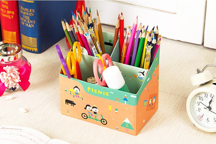 how to make pencil stand with cardboard