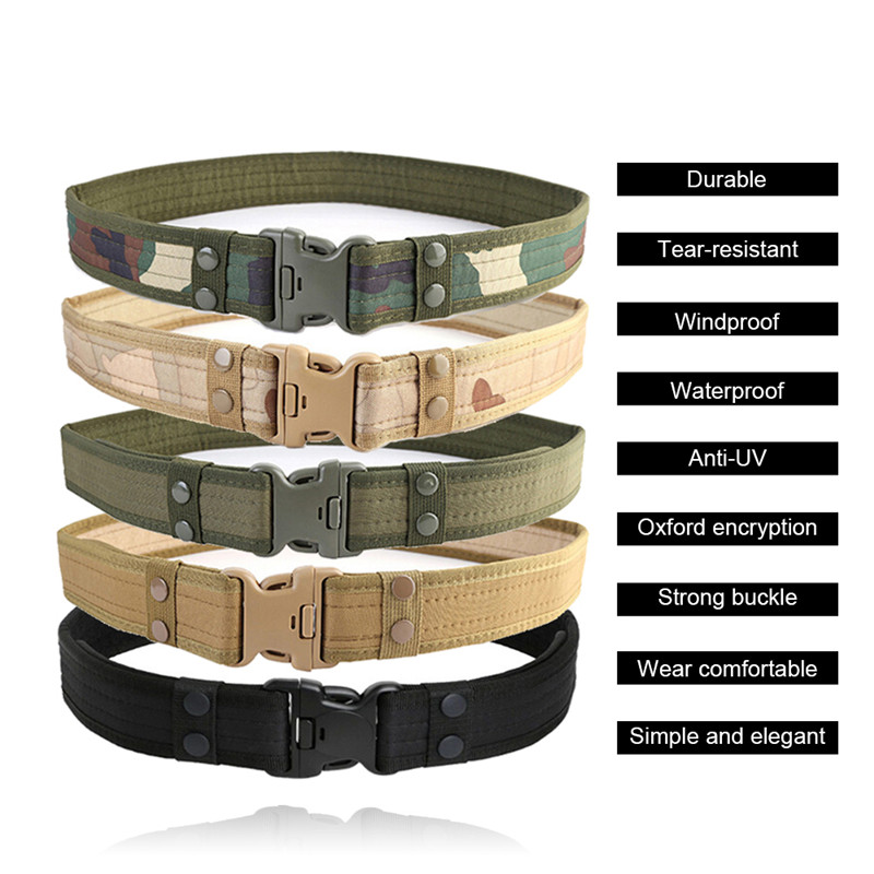Combat 2 Inch Canvas Duty Tactical Sport Belt with Plastic Buckle Army Military Adjustable Outdoor Fan Hook Loop Waistband in Waist Support from Sports Entertainment