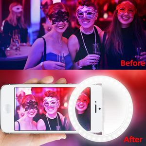 Image 4 - 2019 New Portable Selfie LED Flash Ring Light USB Charge Luminous Photography Ring Lights Enhancing Photography for Smartphone