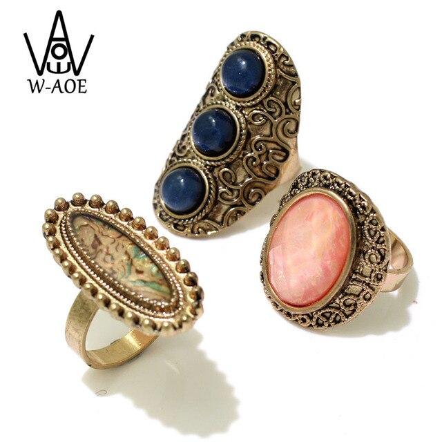 3 Pcs/set Luxury Big Pink Crystal Vintage Wedding Rings For Women 2017  Fashion Jewelry