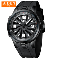 Watches Men Rotate Case BIDEN Luxury Top Brand Silicone Strap Stereo dial Mens Sport Wristwatch Waterproof Male Colock