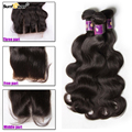 7A Grade Brazilian Virgin Hair Body Wave 4 Bundles Brazilian Body Wave With Closure Silk Lace Human Hair Weave
