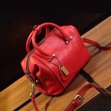 Genuine Leather Women Boston Handbags High Quality Famous Brand Designer Ladies Shoulderbag Designer 2017 Bolsos Mujer Sac 2018