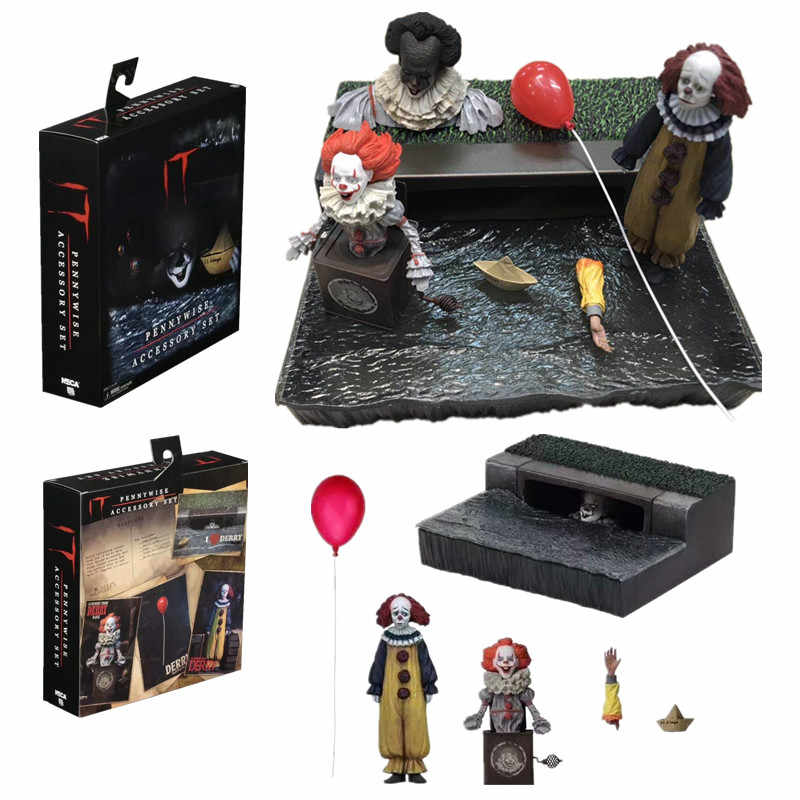 NECA Stephen King's Pennywise 2017 Ultimate Joker Accessoire Set Figuur PVC Action Figure Collectible Model Toys