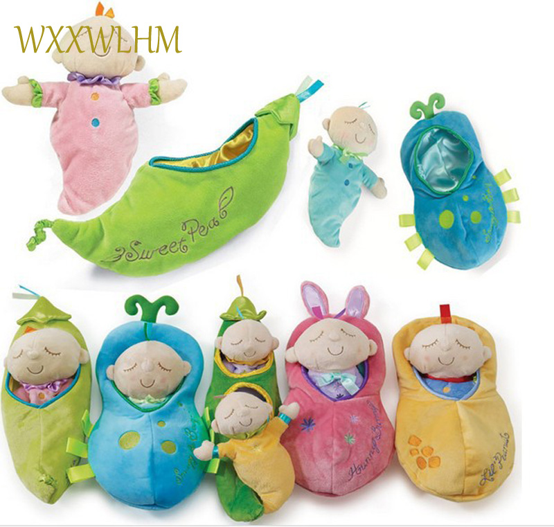 Infant Doll Soft Sleep Toy Children Christmas Gift 0-12 Months Baby Plush Pea Pod Toys Kids Toy Snuggle Pod Sweet Pea Plush Toy ...