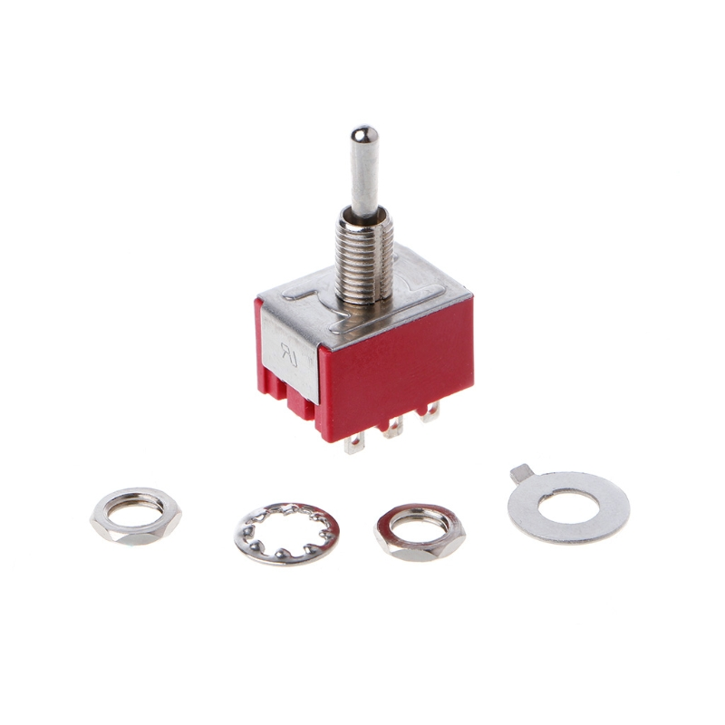 Red <font><b>9</b></font> <font><b>Pin</b></font> ON-OFF-ON 3 Position Mini-kippschalter AC 6A/125 V 3A/250 V L15 image