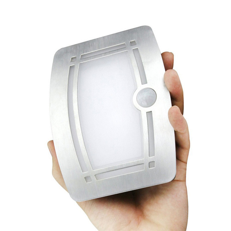 1Pc Wireless Infrared Motion Sensor LED Night Light Battery Powered Sensor LED Wall Lamp Wall Path Laundry Stair Sensor Lamp