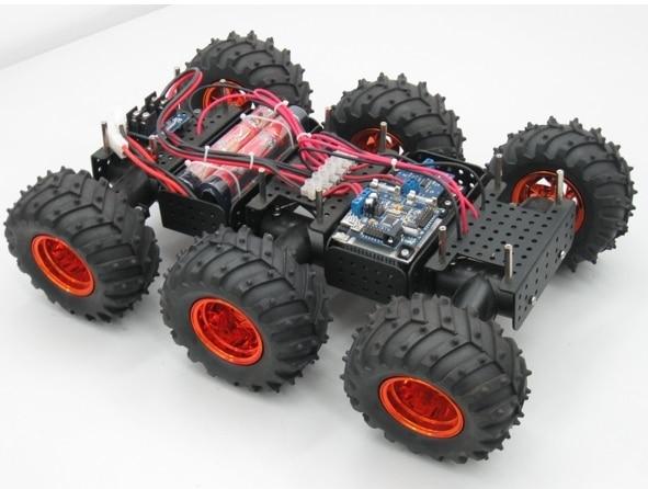 All Metal Big Foot Robot Car Kit Educational Robot Dagu