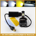 Universal Motorcycle Bike H4 Hi/Lo Beam with MKR LED Front Headlight 3000K golden yellow Bulb motorcycle headlight bulb