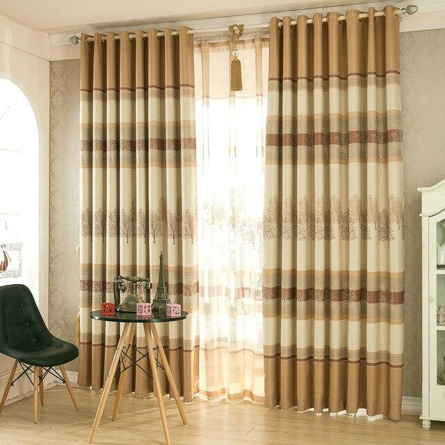 moderne stijl gedrukt bomen gordijnen slaapkamer gordijnen decoratie woonkamer schaduw dekens en tulle