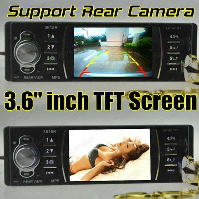 3.6 inch TFT screen Support Rear Camera Car radio player car audio Stereo 12V Car Audio MP5 FM/USB/SD/MMC one Din size In-Dash