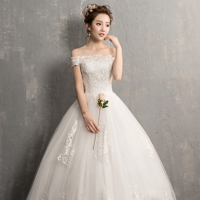 2019 New Vestido De Noiva Mrs Win Boat Neck Vestido Casamento Princess Simple Wedding Dress Luxury Embroidery Robe De Mariee-in Wedding Dresses from Weddings & Events    3