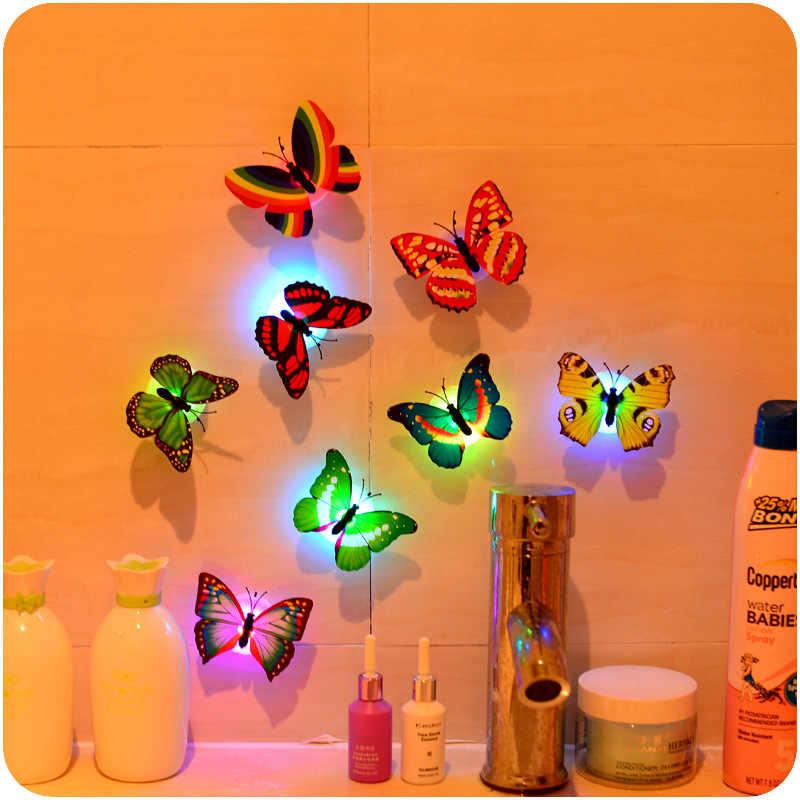 5 sztuk/partia butterfly led cotillon fluorecentes luminous noc strona główna dekoracji LED dekoracyjne glow rekwizyty led motyl światła