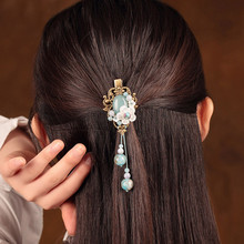 Handmade Vintage Tassel Hairpin Hairwear Barrettes Women Ancient Costume Accessories Head Ornaments Chinese Ethnic Hair Clip цена и фото