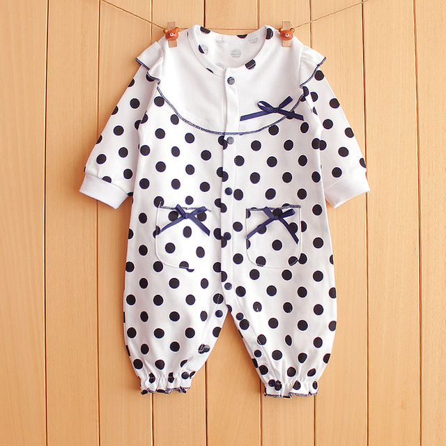 58d99762418c 2017 Brand Baby Romper 100% Cotton Clothing For Newborns Polka Dots ...
