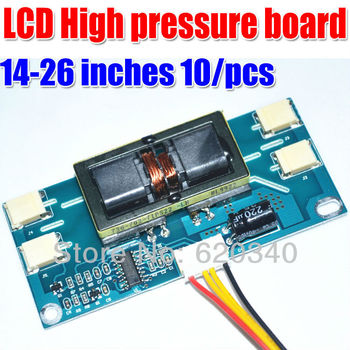 10 pcs LCD High pressure board High power Support 14-26inch 10-30V Four lamps Small Interface LCD repair parts Free Shipping