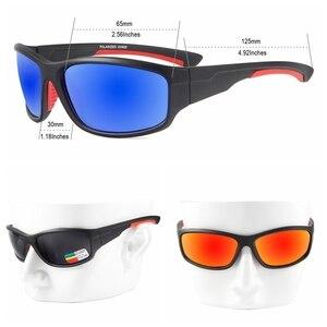 QUESHARK UV400 الرجال الاستقطاب الصيد صياد التخييم المشي لمسافات طويلة للتزلج نظارات دراجة الدراجات نظارات الرياضة الصيد نظارات