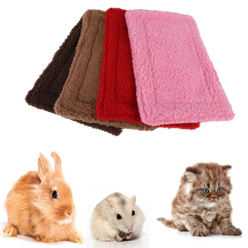 Guinea Pig Hamster Bed Cages Small Animal House Warm Squirrel Hedgehog Rabbit Chinchilla Bed Mat House Nest Hamster Accessories