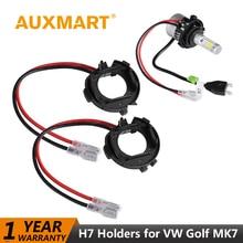Auxmart H7 светодиодный лампа фары разъем адаптера для Volkswagen VW Golf MK7 светодиодный лампы Авто H7 базы держателя разъем для VW Golf MK 7