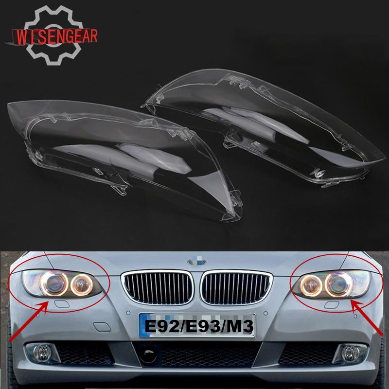 Car Headlight Lens Cover For BMW E92 E93 M3 3 Serise Car Light Assembly Headlamp Cover For BMW 320i 325i 328i 335i PDK680