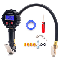 Digital Tire Inflator with Pressure Gauge 0 200PSI Air Chuck and Compressor Accessories Auto Tire Repair and Check Tools