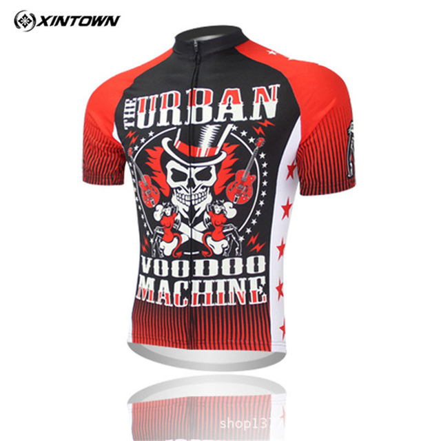 Xintown Short Sleeve 100% Polyester Skull Cycling Jersey Men Breathable  Cycling Clothing mtb Road Bike Jersey Bicycle Clothes accfd8f23