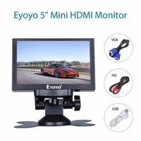 Eyoyo 5 inch Mini HDMI Monitor 800x480 Car Rear View TFT LCD Screen Display With BNC/VGA/AV/HDMI Output Built in Speaker
