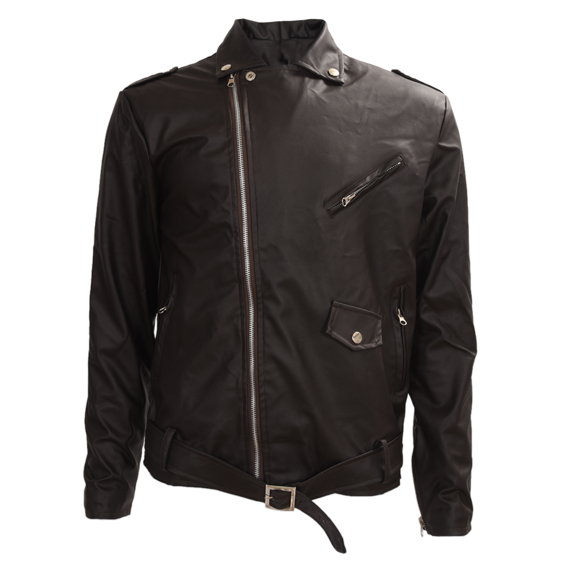 SAF-Men's Cool Fit Punk Zip Motorcycle Jacket