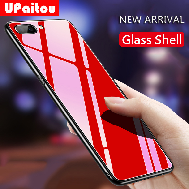 UPaitou Tempered Glass <font><b>Case</b></font> for <font><b>OPPO</b></font> <font><b>F11</b></font> <font><b>Pro</b></font> A9 A9X A7 AX7 A5S AX5 A3 S A1 Soft Edge Anti Fall Glass <font><b>Case</b></font> For Realme 3 <font><b>Pro</b></font> <font><b>Case</b></font> image