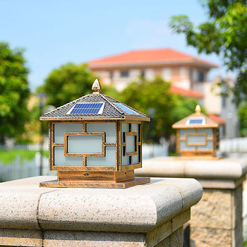 Upgraded version, two color temperature adjustment, electricity + solar outdoor lighting, waterproof stigma lamp.25*25*30CM