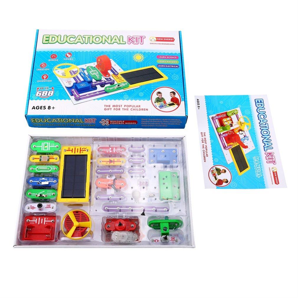 Kit de découverte électronique multicolore Kit de bloc électronique intelligent Kit de Science éducative jouet meilleur bricolage jouets pour enfants enfants