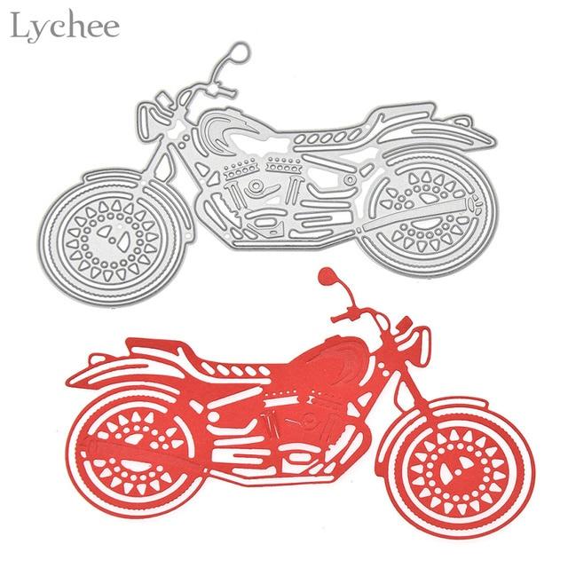 Lychee Motorrad Metall Stanzformen Schablonen DIY Scrapbooking Album ...
