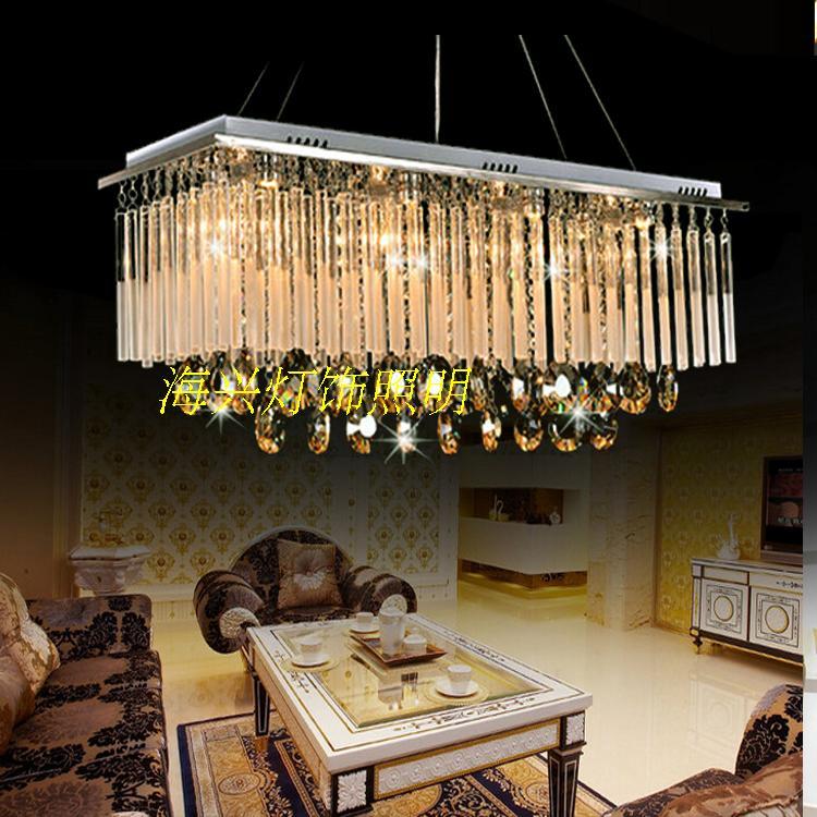 LED restaurant pendant lamp crystal restaurant modern rectangular living room dining room bar counter pendant light ZA912616