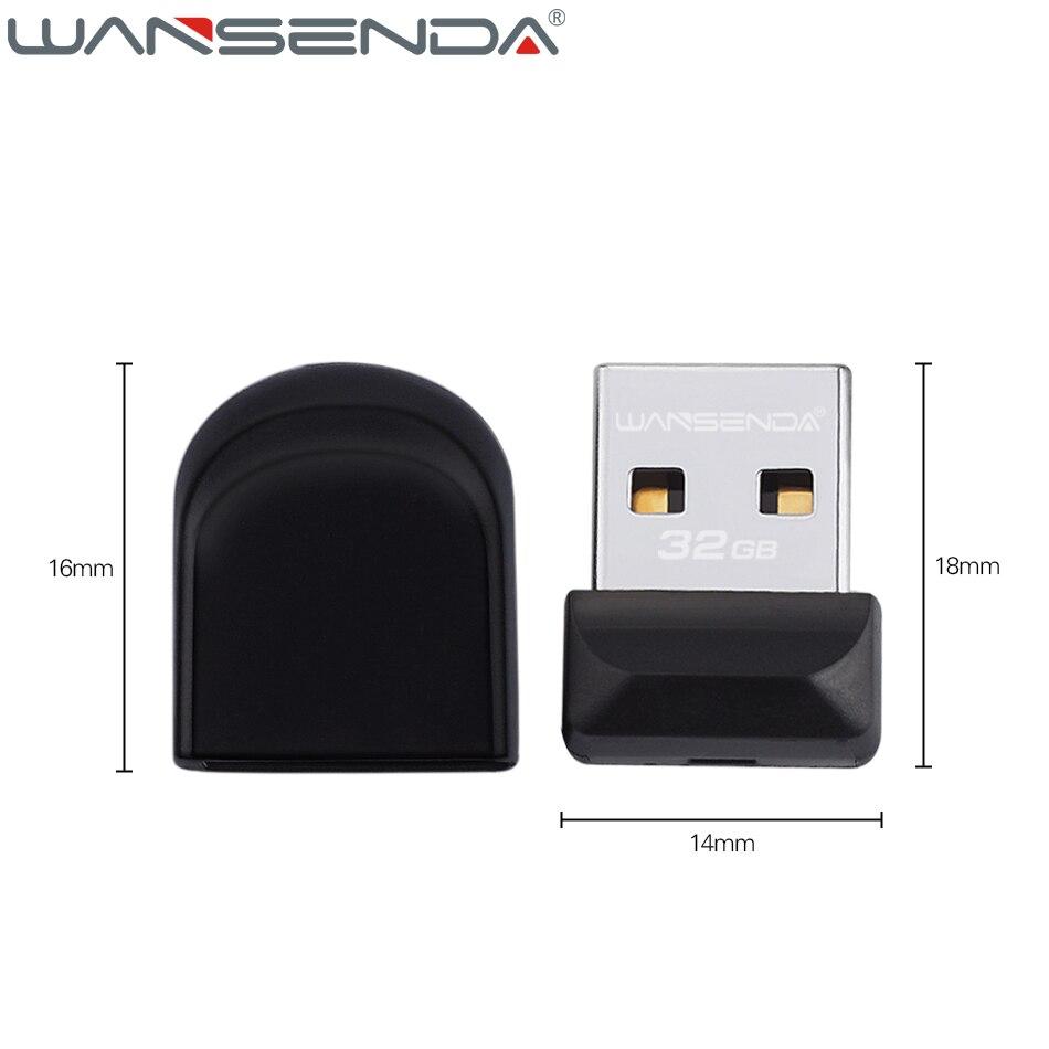 100% Full Capacity Wansenda USB Flash Drive Super tiny Pen Drive 64GB 32GB 16GB 8GB 4GB Pendrive Waterproof USB Memory Stick 3