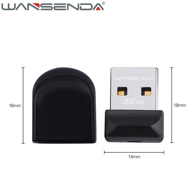 100% full capacity Wansenda USB Flash Drive Super tiny Pen drive 64GB 32GB 16GB 8GB 4GB Pendrive Waterproof USB Memory Stick 4