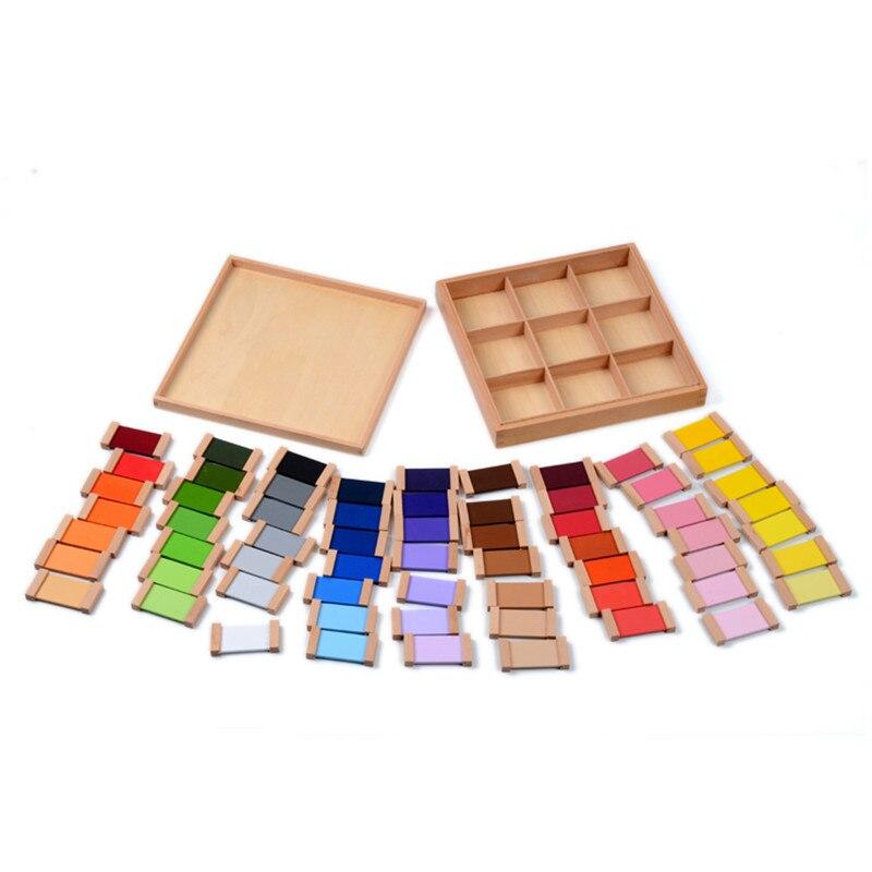 Montessori Sensorielle Bois Couleur Tablet 3rd Boîte de La Petite Enfance L'éducation Préscolaire Formation Enfants jouets pour bébés Brinquedos Juguetes - 4