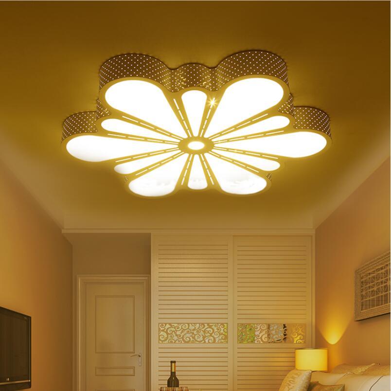 Светодиодные потолочные светильники в виде цветов, мощные железные акриловые лампы для гостиной, 3