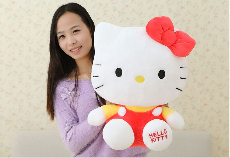 fillings toy lovely hello kitty plush toy about 43 cm red kitty soft pillow high quality birthday gift b4971 lovely giant panda about 70cm plush toy t shirt dress panda doll soft throw pillow christmas birthday gift x023