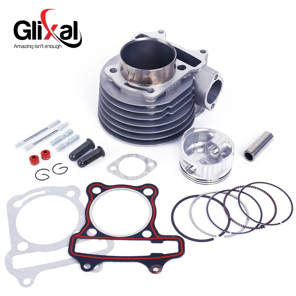 Glixal GY6 180cc Chinese Scooter Engine 61mm Big Bore Cylinder kit with Piston Kit for 4T 157QMJ ATV Go Kart Moped fm 380 paper laminating machine students card worker card office file laminator steel roll laminating machine