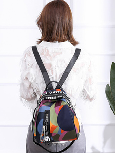 Image 3 - 2020 new ladies bear pendant Multifunction backpack high quality youth color backpack girl casual large capacity Bags for women