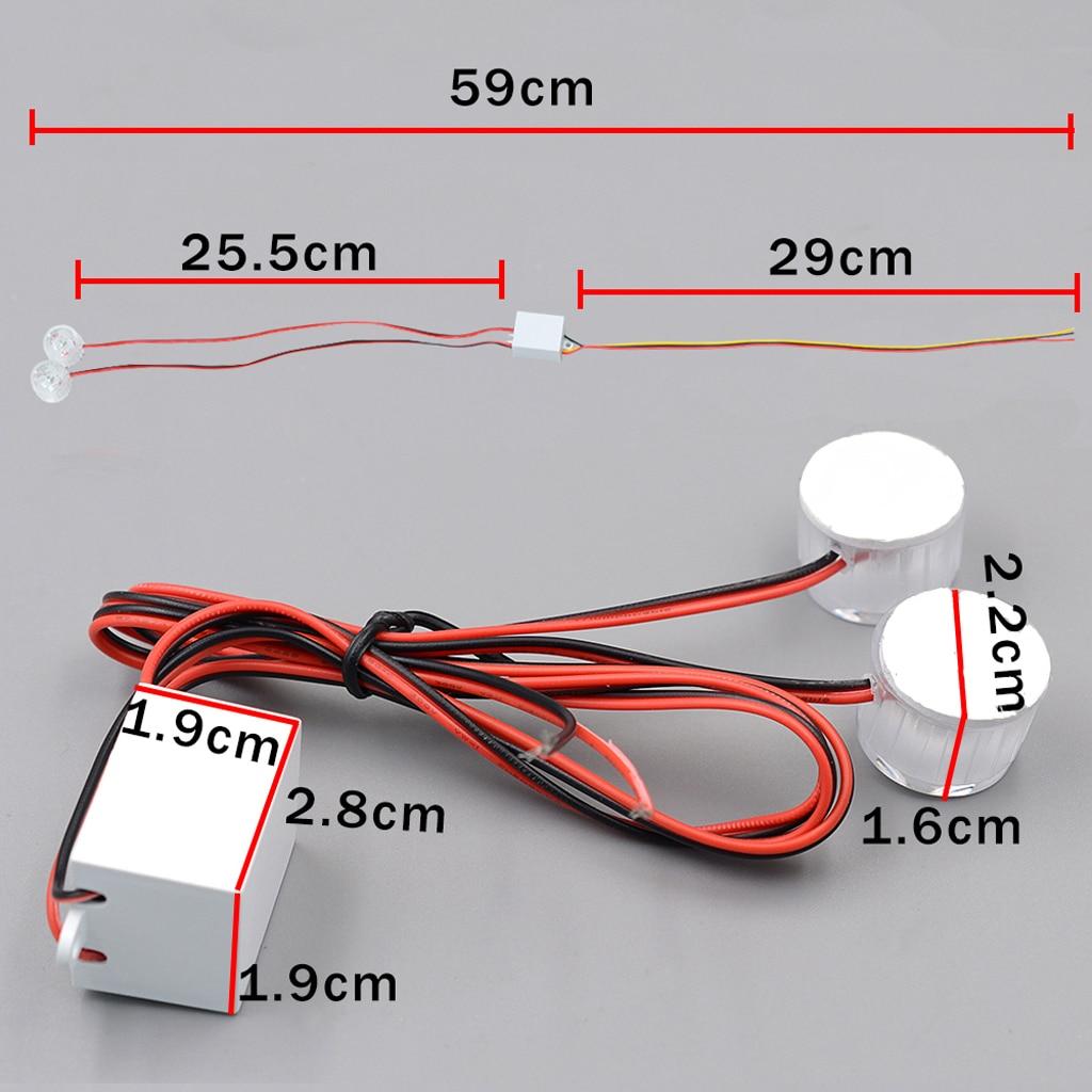 12-85V Car Flashing Emergency Warning LED Strobe Lights Flasher High Quality Long life Expectancy Super Bright & High Power