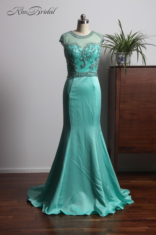 vestido de gala New Design Light Green Prom Dresses 2018 Long Beading Belt Mermaid Evening Formal Gowns