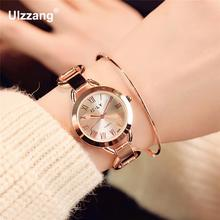 Luxury Unique Ulta-Thin Women Dress Quartz Wristwatches Retro Roman Dial Plated Gold Silver Ladies Leisure Watch Relojes mujer