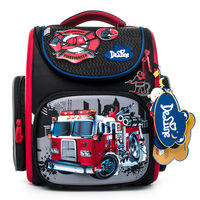 Delune Brand Design Hard Orthopedic School Bag Pattern For Boys Car Children Primary Students Friendly Cool