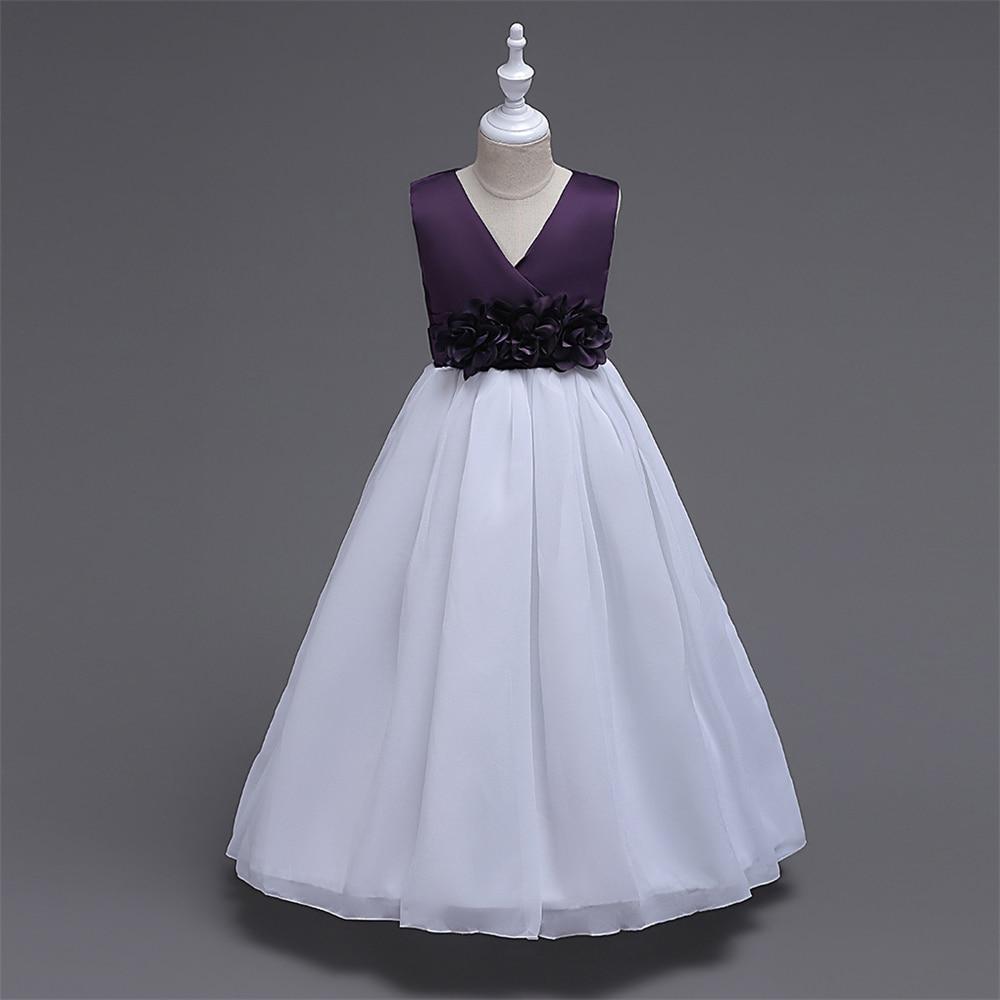 Christmas dress teen - Christening Dress For Teen Girls Prom Gown Kids Performance Costume Girl Dress For Christmas Party Wedding
